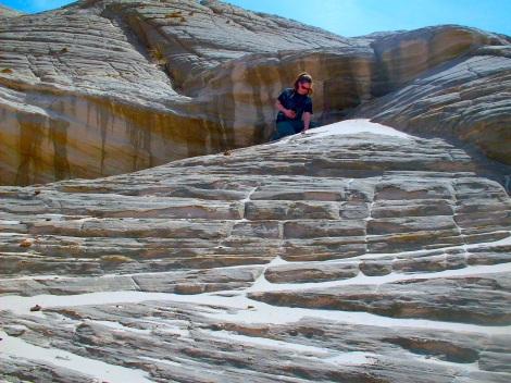 "Climbing the ""rock hill."""