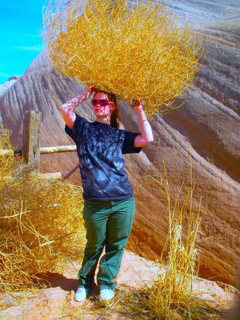 The tumbleweeds were huge! And make nice hats.
