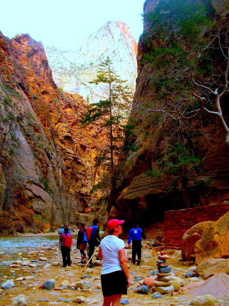 But there's a trail that leads to…the Narrows!