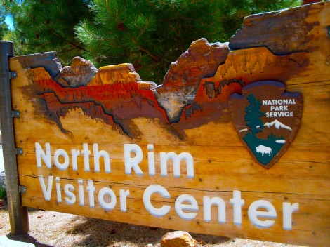 North Rim sign.