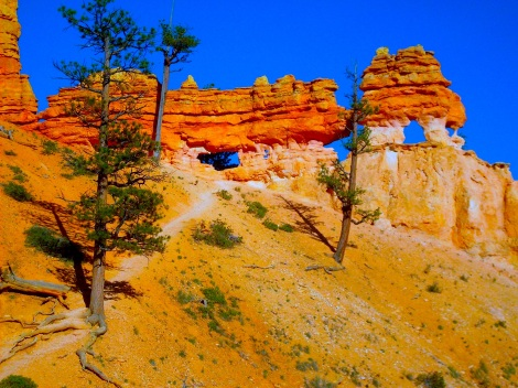 Some leftover hoodoos from Bryce Canyon.