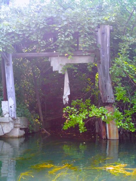"An abandoned ""garage."""