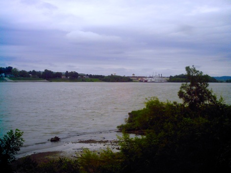 View across the Ohio River into Indiana.