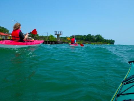 The Detroit River was a little choppy.