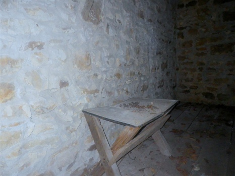 ...with a bench inside? What was this room used for?